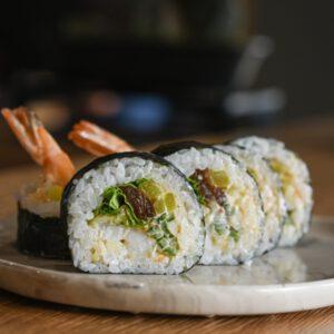 futomaki ebi tempura